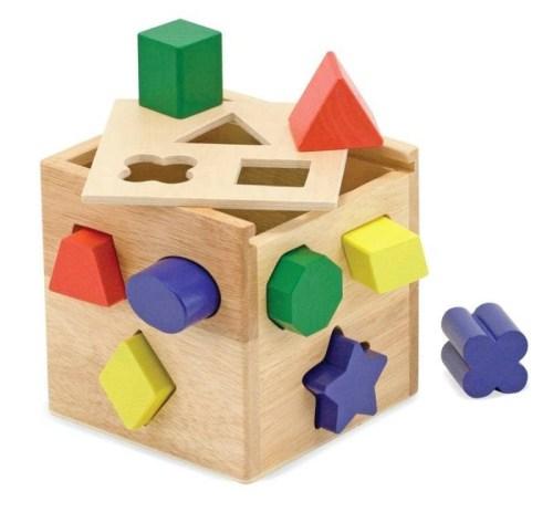 Wood Shape Sorting Cube