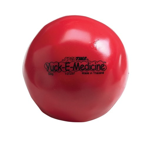 1.1 lb, 4-1/2 in Yuck-E-Medicine Ball, Red