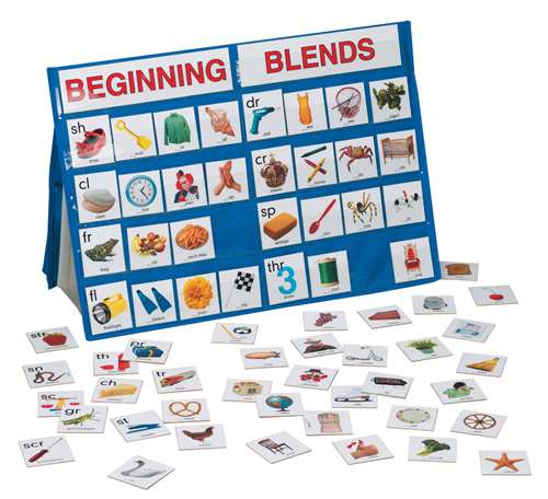 Lauri Beginning Blends Tabletop Pocket Chart, 18 x 13 in