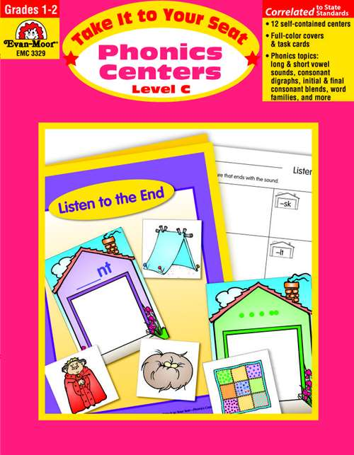 Evan Moor Take It to Your Seat Phonics Centers, Grades 1 to 2