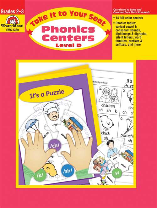 Evan Moor Take It to Your Seat Phonics Centers, Grades 2 to 3
