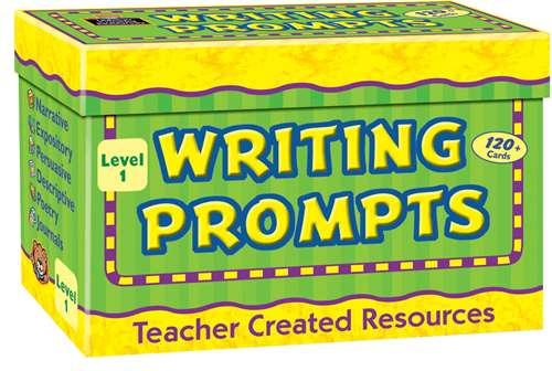 Teacher Created Resources Writing Prompts, Level 1, Includes 120 Cards