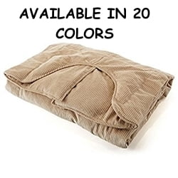 Sleep Tight Weighted Blanket in Navy Blue Corduroy