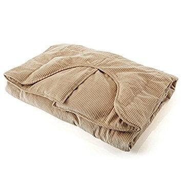 Sleep Tight Weighted Blanket in Tan Corduroy