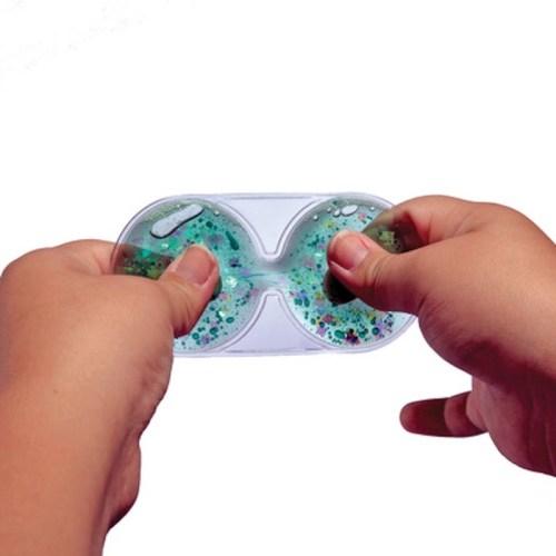 Hourglass Shaped Fidget Finger Squash It, Set of 6