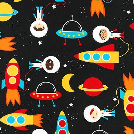 Sleep Tight Weighted Blanket with Space Explorers