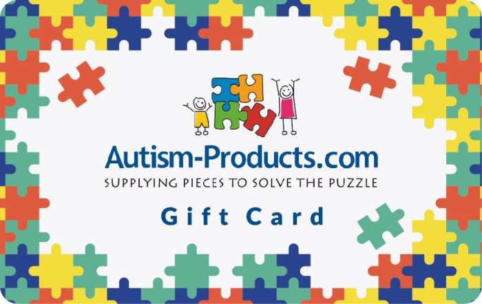 Autism Products Gift Card