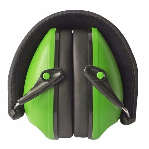 Snug Earmuffs Hearing Protectors Green Folded