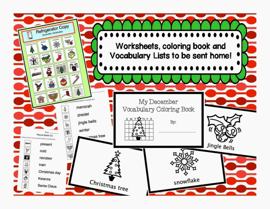 December Vocabulary Bundle Autism Adventures