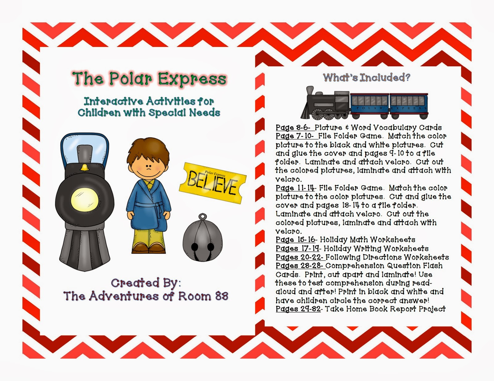 The Polar Express Book Of The Month Autism Adventures