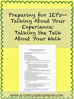 Talking About Your Experience: Talking the Talk About Your Walk {freebie!}