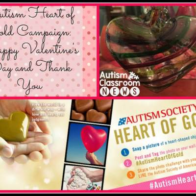 Autism Heart of Gold Campaign: A Thank you for Valentine's Day