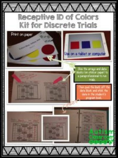 Many of us working with students with autism and other complex disabilities use discrete trials as a fundamental part of our instruction. Implementing discrete trial training (DTT) in the classroom can be difficult. So I am sharing a free sample of a type of trial kit that can help everyone in the classroom (including paraprofessionals) to implement trials consistently. Check it out and download your kit today.