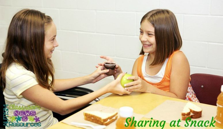 Sharing at Snack--Creating Incidental Teaching Opportunities at Snack by Autism Classroom Resources