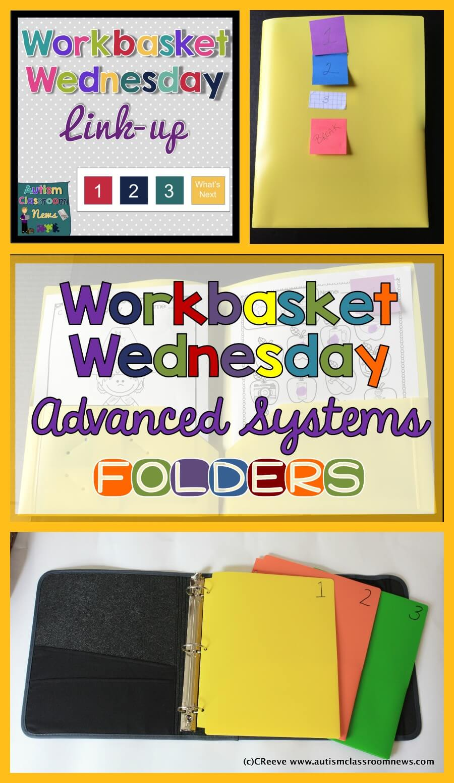 You can advance independent work systems and work tasks for students who need to practice doing paper and pencil work by using folders.  Check this post for ideas of how to set it up.