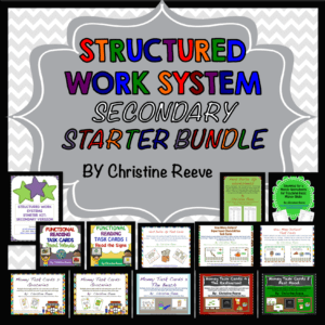 Secondary Structured Work System Starter Bundle by Autism Classroom News Store