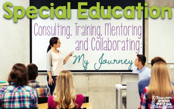 Special Education Consulting, Training, Mentoring, and Collaborating: My Journey
