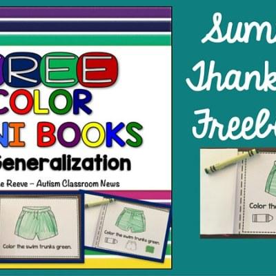 Color Mini-Book Freebie: Summer Thank You #2