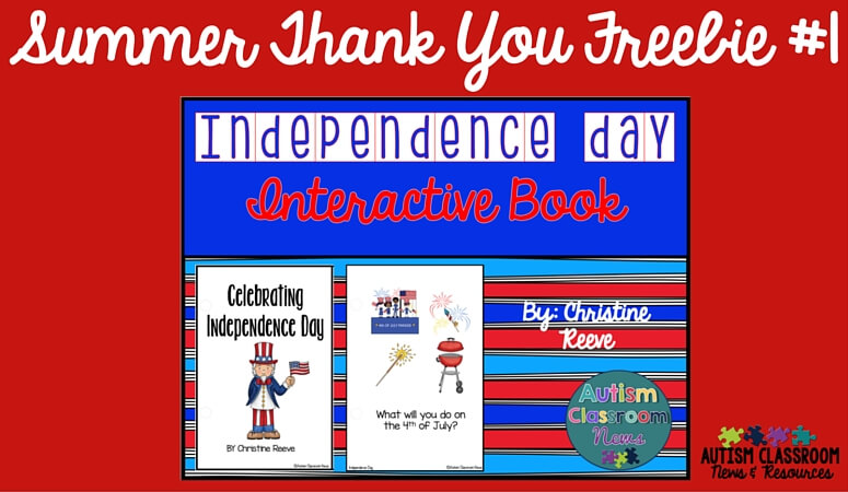 A free interactive book for the Fourth of July.