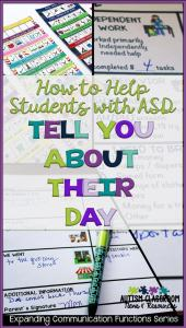How to Help Students with ASD Tell You About Their Day