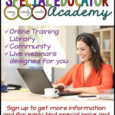The Special Educator Academy Membership Site is Coming!