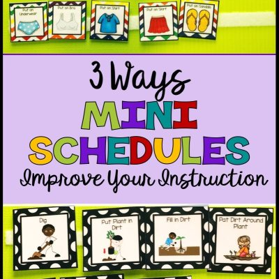 3 Reasons You Should be Using Mini-Schedules in Your Classroom