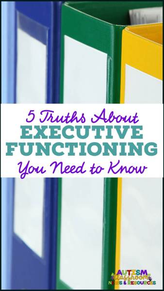 Notebooks with title-5 Truths About Executive Functioning You Need to KNow