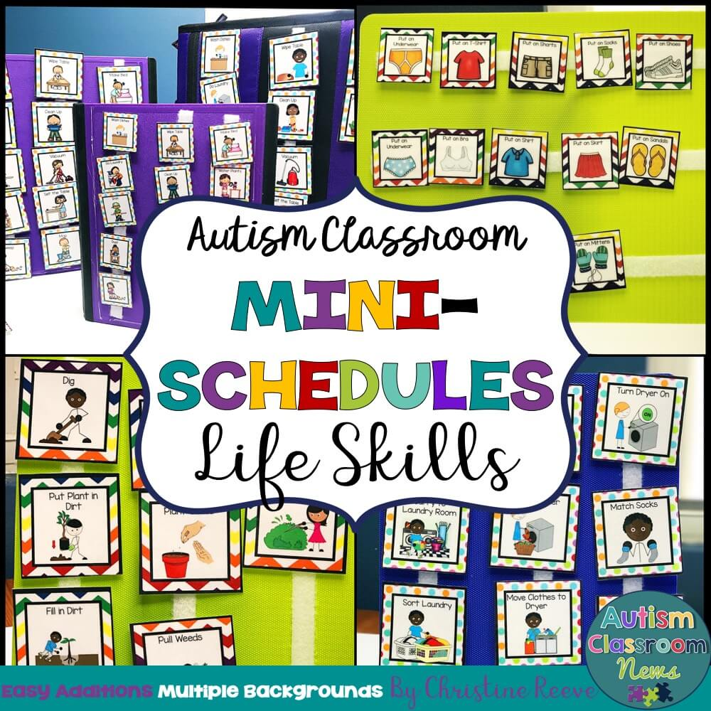 Autism Classroom Mini Schedules Life Skills cover