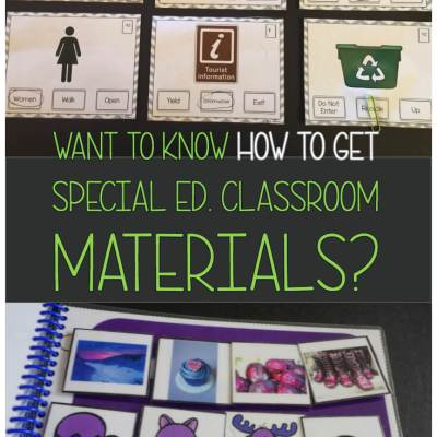Want to Know How to Get Special Ed. Classroom Materials?