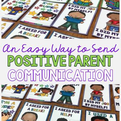 An Easy Way to Send Positive Communication with Parents