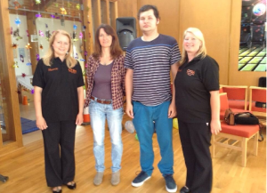 Sharon with co founder Michelle, Caroline and Kyle Coleman
