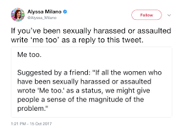 Alyssa Milano me too tweet
