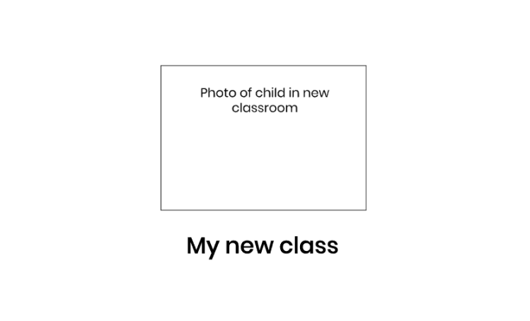 Transition photo book to prepare children with autism for change to new class