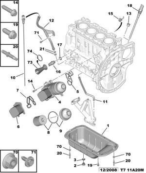 filtre à huile  Peugeot  308  Diesel  Auto Evasion