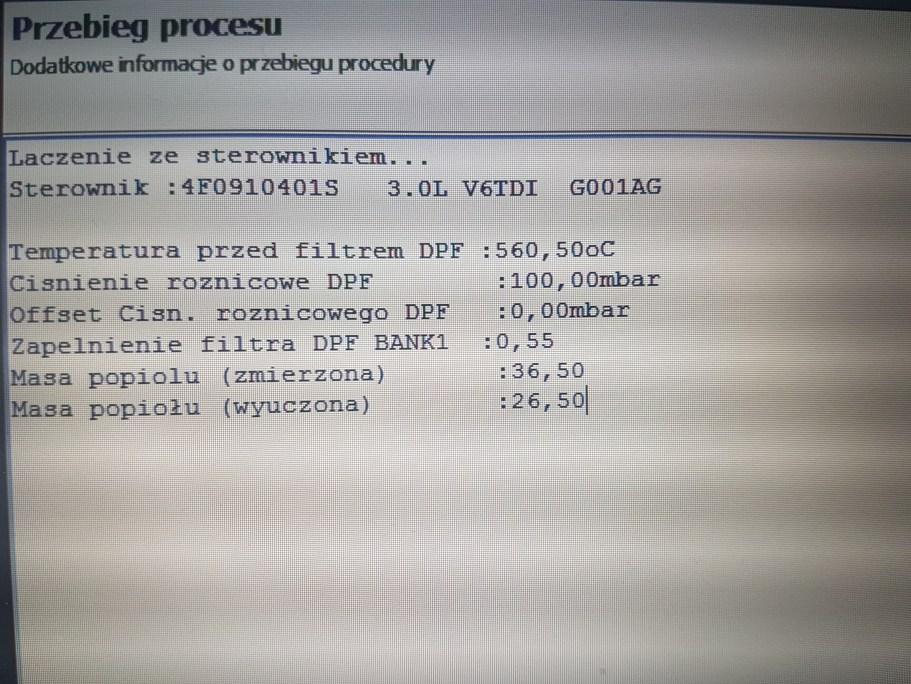 Kasowanie reset po wymianie DPF 2 7TDI 3 0TDI problem | Auto
