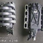 Audi – seria RS: kolektory z zaślepionymi klapami wirowymi do silników V6, V8 i V10