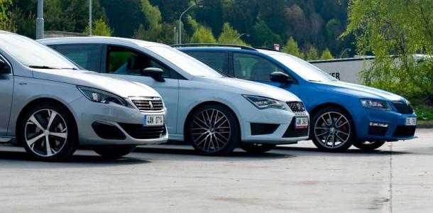 test-seat-leon-cupra-skoda-octavia-rs-peugeot-308-gt-nurburgring-p1