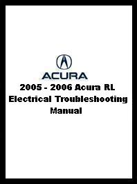 2005  2006 Acura RL Electrical Troubleshooting Manual