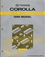 1996 Toyota Corolla Electrical Wiring Diagram Manual