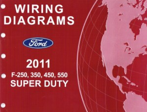 2011 Ford F250, 350, 450 & 550 Truck Factory Wiring Diagrams