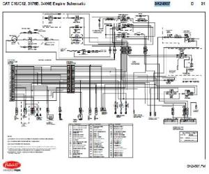 Caterpillar C10  C12, 3176B, 3406E Engine Wiring Diagram