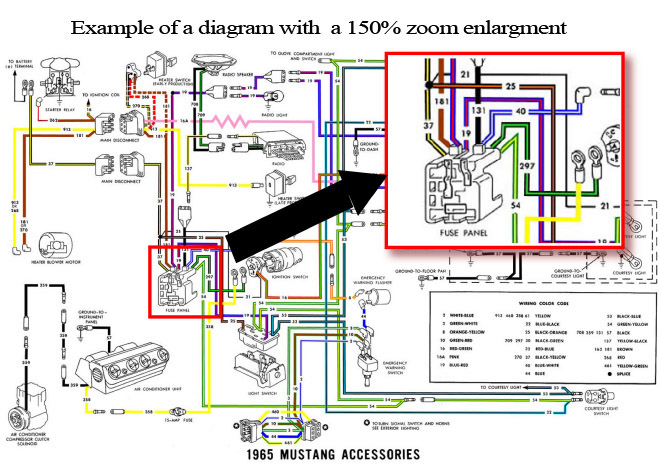 1966 ford mustang colorized wiring diagrams cdrom