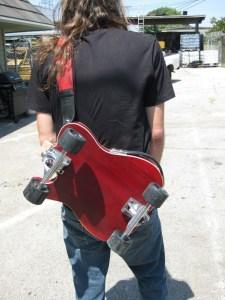 Skateboard et Telecaster