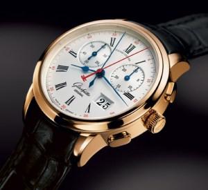 Apprentissage fait en bijouterie : les Suisses et les Japonais ne sont pas les seuls à faire des montres. Ici, une Glashütte Original allemande.