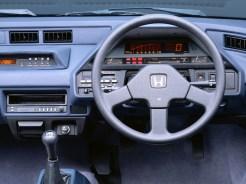 Honda CRX Noire interieur