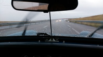 MG Midget autoroute Bordel
