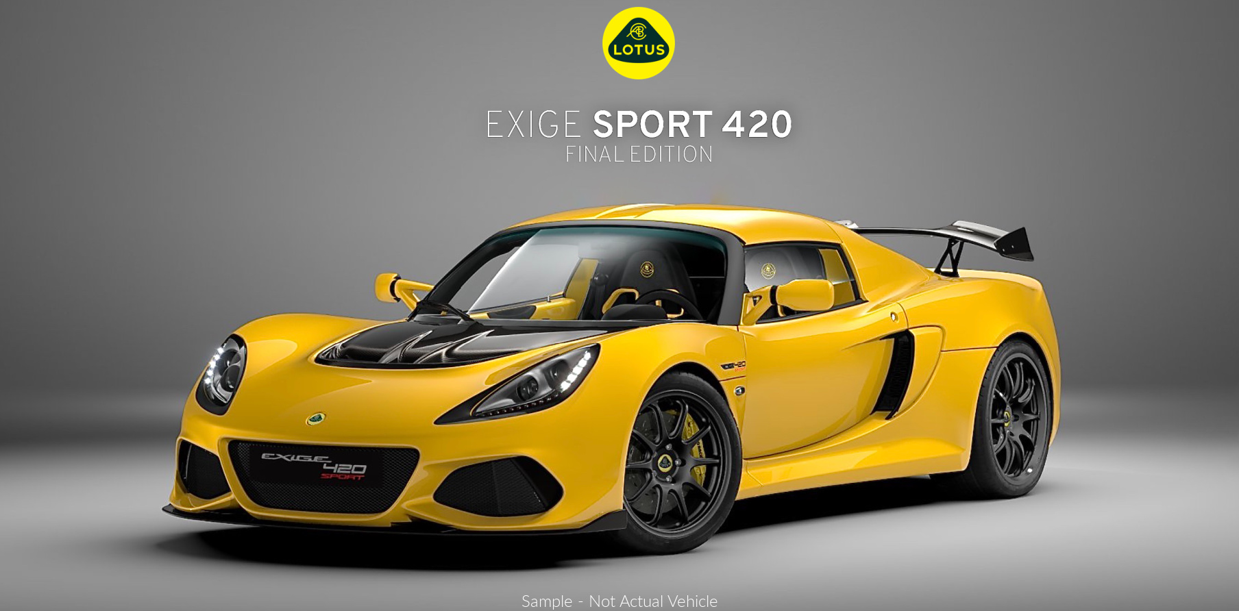 Lotus Exige Sport 420 Final Edition Solid Yellow for Sale Perth