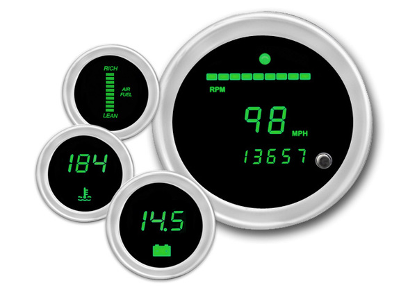 Cyberdyne Emerald Green Digital Gauges