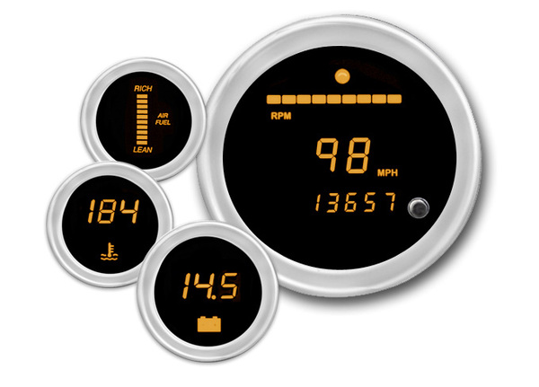 Cyberdyne Sunburst Amber Digital Gauges