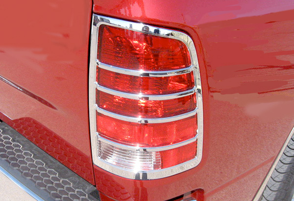 Pilot Chrome Tail Light Covers Pilot Chrome Tail Light